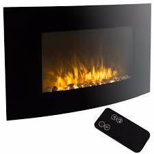 35 electric fireplace 1500w wall mount heater with remote com