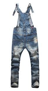 Designer Overalls Denim 2019 New Fashion Big Boys Mens Ripped Denim Bib Overalls Large Size Rompers 2015 Mens Distressed Long Jean Jumpsuit Jeans Pants For Men Work From