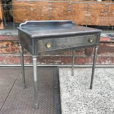 simmons metal furniture. Brushed Steel Pressed Sheraton Style Simmons Furniture Industrial Brass Metal Vanity Desk Mirror Chair Factory Brooklyn Antique