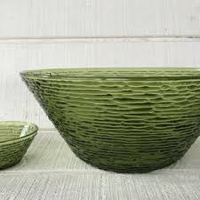 green glass salad bowl. Contemporary Green Vintage Soreno Avocado Green Large Serving Bowl And Small Dip Bo Throughout Glass Salad