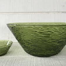 vintage soreno avocado green large serving bowl and small dip bowl vintage chip dip