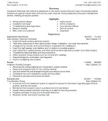 Electrical Technician Resume Sample Samples Of Electrical