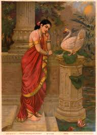 <b>Hamsa</b> and Damayanti - Raja Ravi Varma — Google Arts & Culture