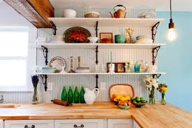 Decorating Kitchen Shelves Wonderful Kitchen Organizing Using Add On Of Versatile Wood