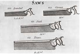 antique hand saw types. one of the earliest tool catalogs we have, \u201csmith\u0027s key,\u201d shows four types backsaws available in 1816 from makers sheffield, england. antique hand saw
