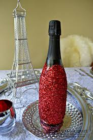Champagne Bottle Decoration A Paris Themed Valentines Dinner Celebrate Decorate