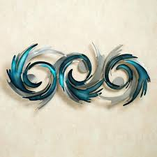 blue metal wall art creative decoration turquoise best pictures regular staggering