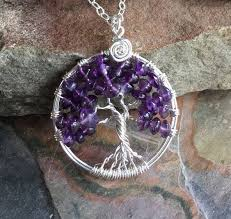february birthstone jewelry wire wrapped tree of life necklace gallery photo