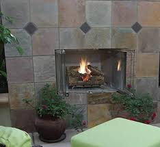 superior 36 stainless steel outdoor gas fireplace