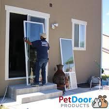 sliding glass pet door installation