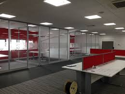 mezzanine office space. Looking Office Area In Keeping With The Novatech Brand, Whilst Below Mezzanine Provided Organisation A Practical Storage Space .