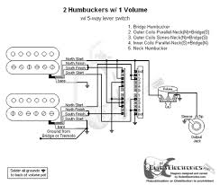humbuckers way lever switch volume tone  2 humbuckers 5 way lever switch 1 volume 1 tone 06