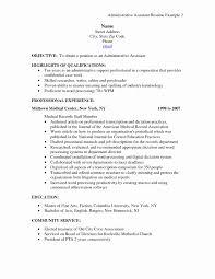 Administrative Assistant Resume Templates Unique Objective For