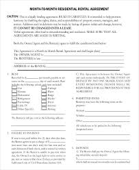 Month To Month Rental Agreement Template Month To Month Rental Agreement Template 13 Free Word