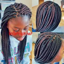 Box Braids Hair Style small to medium size box braids done with color 30 and 1b hair 6034 by wearticles.com