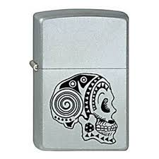 <b>Зажигалка ZIPPO Tattoo Skull</b> Satin Chrome, латунь с никеле ...