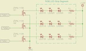 help using ws to drive v rgb led strip experts rgb strip mosfet drivers png w 620 h