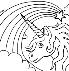 Unicorn Color Pages For Kids Activity Shelter