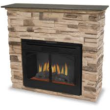 image of electric stone fireplace heater