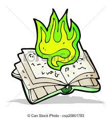 cartoon magic spell book csp20801783