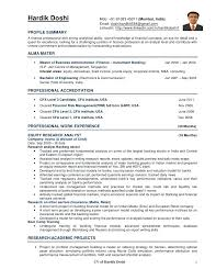 Research Analyst Resume Mob Equity Research Analyst Resume Template