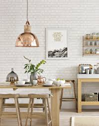 country dining room lighting. White Country Dining Room With Copper Pendant Lamp Lighting S