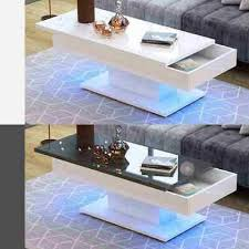 modern high gloss coffee tea table with
