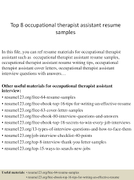 Sample Ot Resume Child Care Manager Occupational Therapy Examples