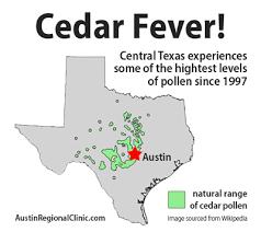 Austin Allergy Season Chart Cedar Fever Is Here Austin Regional Clinic