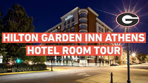 hilton garden inn uga athens ga hotel room tour review 2018