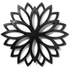 Home Trends Layla Medallion Wall Decor, Black