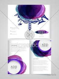 Two Page Brochure Template Two Page Brochure Template Or Flyer Design With Space To Add Your