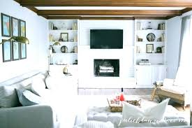 unique painted white brick fireplace and home decorating ideas farmhouse painted white brick fireplace basket unique painted