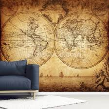 18th century world map wallpaper