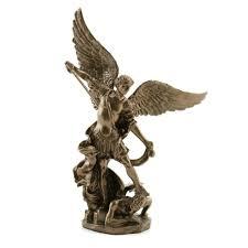 st michael archangel veronese statue bronzed 4 inch
