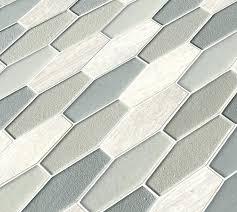 elongated hexagon tile glass hex backsplash white