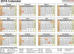 School Calendar 2015 2019 Template Vacation Calendar Template 2015