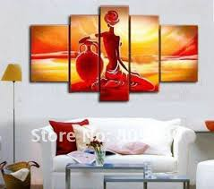 Wall paintings for office Cool Free Shipping Abstract Nude African Figure Oil Painting Canvas High Quality Handmade Home Decoration Office Wall Art Decor Gift Dhgatecom 2019 Abstract Passion Dancing Lady Portrait Oil Painting Canvas