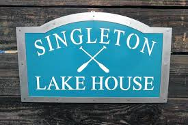 lake house signs sign decor custom personalized metal