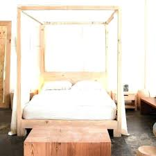 White Wooden Canopy Beds Image Of Wood Canopy Bed Crown White Wood ...