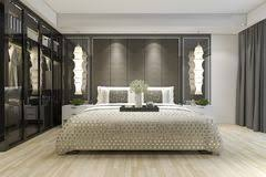 modern bedroom with tv. Brilliant Bedroom 3d Rendering Luxury Modern Bedroom Suite Tv With Wardrobe And Walk In  Closet Stock Image And Modern Bedroom With Tv