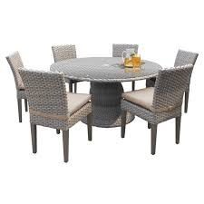 oasis 60 round glass top patio dining