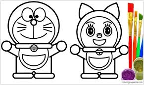 This one is one of the best robot colouring pages and one of our favorites. Doraemon And Dorami 1 Coloring Pages Doraemon Coloring Pages Free Printable Coloring Pages Online