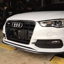 Universal Rubber Carbon Fiber 2.5 Meters Front lip Body Kit With ...