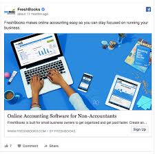 facebook ad examples you can t resist but copy freshbooks s facebook ad has a clear target audience