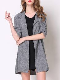 plus size solid half sleeve open front fashion trench coat trench coats at jolly chic