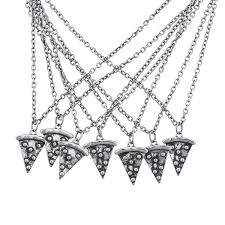 lux accessories burnish silvertone necklace