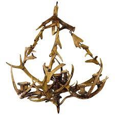 antique black forest antler candle er for