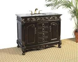 beautiful black bathroom vanity design with sink