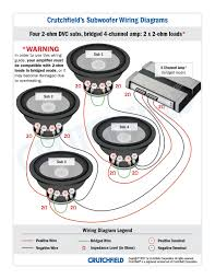 4 DVC 2 ohm 4 ch low imp subwoofer wiring diagrams on speaker wiring diagram